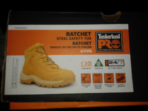 Timberland Ratchet sz.12 steel toe boots save $55 off retail