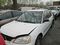 honda civic 2001 4 portes automatique pour les pieces