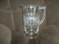 ANTIQUE JUICE PITCHER VERY NICE NO CHIPS OR CRACKS.