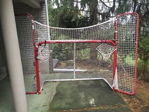 winnwell hockey net with extra side nets