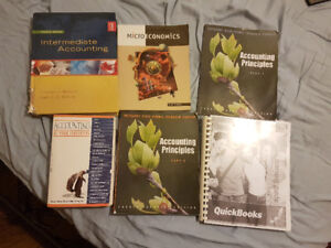 Accounting text books available