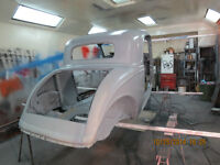 SPRAY BOOTH RENTAL AUTO BODY SHOP-  Rust Removal Sand Blasting