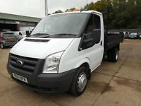 2010 FORD TRANSIT T350 MWB TIPPER 100 SINGLE CAB ONLY 19,500 MILES TIPPER DIESEL