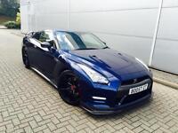 "2011 11 Reg Nissan GT-R 3.8 V6 F1 / auto BLUE + LOTS CARBON + 20"" RAYS + STUNNER"