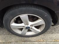 Set Of 4 17 Inch Genuine Ford S Max Alloy Wheels & Tyres