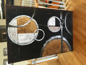 Contemporary stretched canvas art.