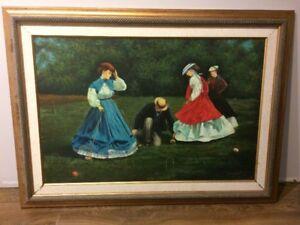 Toiles d'artistes variés (huile et aquarelle)