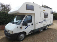 Carioca 656 6 Berth Motorhome with Overcab bed, Rear Bunks and Garage