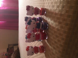 Hello kitty nail polish and Victoria secret plush dog collection
