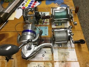 Lot of fishing reels, one is for parts $25