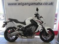HONDA CB650FA-E ABS, 65 REG ONLY 7513 MILES, EXCELLENT CONDITION, HEATED GRIPS..