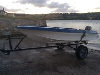 4m fishing boat and trailer