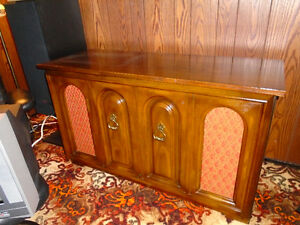 Antique Stereo LP Cabinet