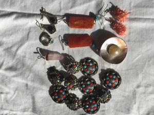 Pendants, Earrings, Rings: Aquamarine, Moonstone, Rose Quartz