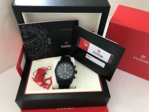 Tudor Fastrider 42000CN Black Index White 42 mm Ceramic Case