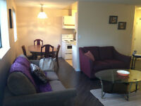 2 BEDROOM,FURNISHED CONDO OFF ROBSON,RENOVATED,AVAIL SEPT 1