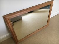 Lovely large pine mirror