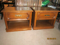 Set Of 2 Matching Wood Night Stands