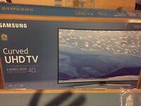 "Samsung 40"" 4K UHD CURVE (like new)"