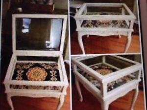 Memory box side table with drawer