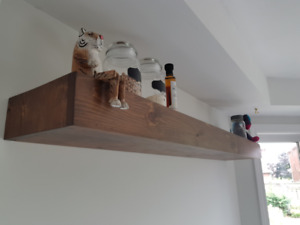 Handcrafted Solid Wood Floating Shelf (Custom + Made to Order)