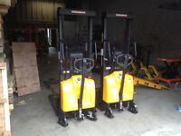 New Semi Electric Hydraulic Stacker, fork lift truck  2000lbs