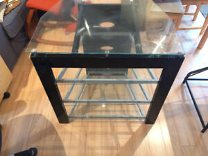 Glass/metal TV Entertainment Stand