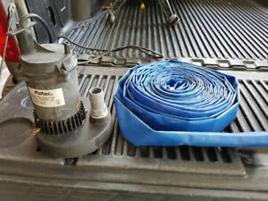 Submersible Pool Pump & 75' collapsible hose