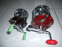 Moulinets pour cannes, (Penn 109, 45$) (209, 55$) Fishing reels