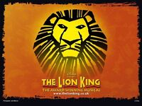Selling: The Lion King - Lyceum Theatre (2 tickets @ £90 each)