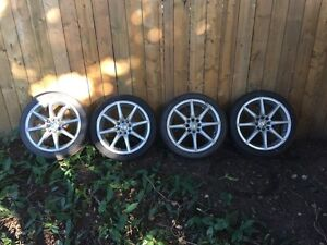 17 inch 5x113 rims one has MAJOR curb damage  Cambridge Kitchener Area image 1