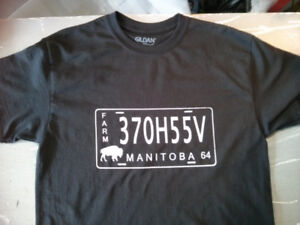 T shirt Manitoba License Plate