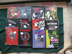 Heavy Metal & Punk Rock Concerts DVD'S Up Dated