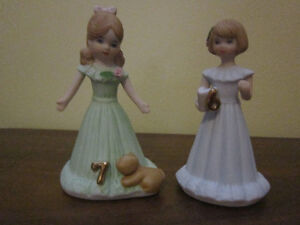 Brunette Growing Up Birthday Girls (from Enesco) Ages 6 and 7