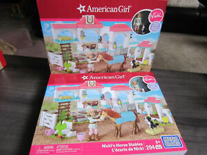 "American Girl ""Nicki's Horse Stables"" Mega Blocks, BNIB"