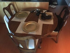 Circa 1900 Dining Room Table and 6 Chairs