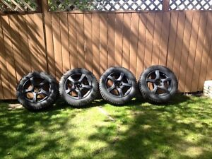SET OF FOUR(4) GT RADIAL TIRES + RIMS. CHAMPIRO PRO