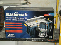 New in Box, Router with matching Router Table Mastercraft