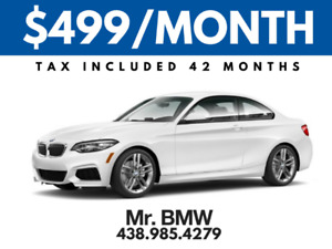 2018 BMW 230xi Coupe - $499/Month TAX IN - $0 Down - 42 Months