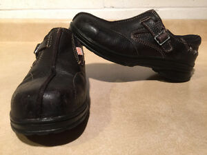 Women's Royer Slip-On Steel Toe Work Shoes Size 6.5 E