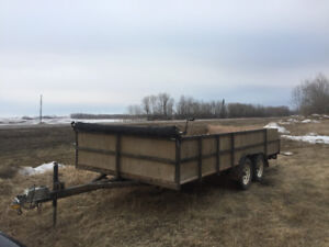 2016 Utility Trailer 18' with ramps, load cover, sides.