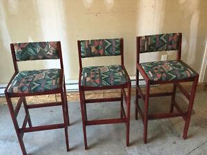 3 x chaises de bar