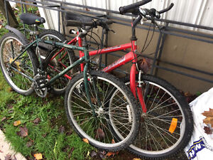 Bikes for sale.  Hybrids