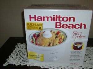 SLOW COOKER - 3 QUART (HAMILTON BEACH) (NEVER USED)