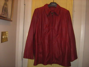 Woman's Red Leather Jacket - Excellent condition