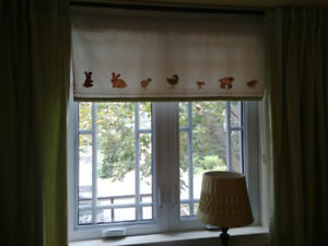 Pottery Barn window Valance and curtains