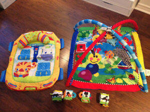 Baby play gym, comes with a Tummy-time mat & Sensory soft toys