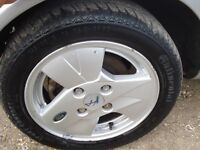 "Ford Ka 14"" Alloy with good condition tyres,"