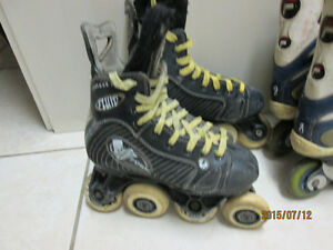 RARE!! Fluid Rollerblades with V-Form wheel pattern Size 6