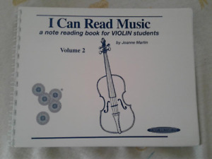 I CAN READ MUSIC V.2 for Violin Students by Joanne Martin